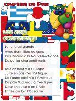 Comptine de Poni-Les cinq continents