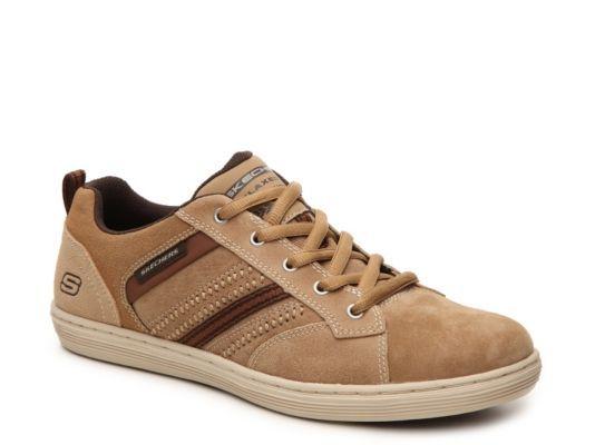 Men's Skechers Relaxed Fit Evole Sneaker - Tan