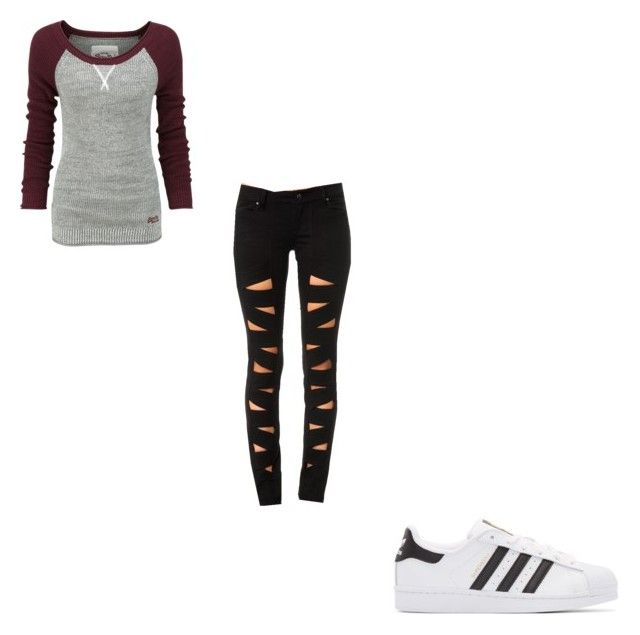 """#410"" by aureeliet on Polyvore featuring Superdry, Tripp and adidas Originals"
