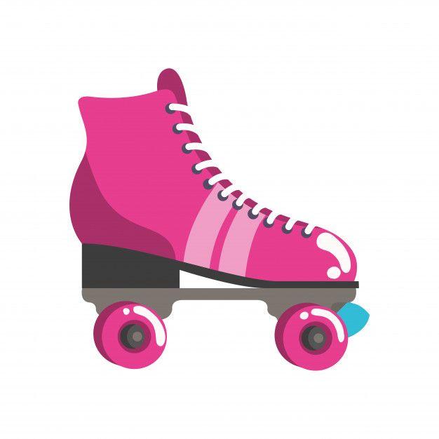 Roller Skates Pop Art Icon Roller Skates Roller Art Icon