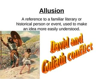 This is a five slide PowerPoint on allusion. It has a definition of allusion, examples of allusion, an activity where students identify allusions, ...