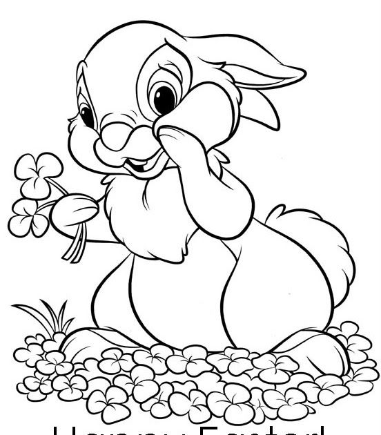 EASTER COLOURING: COLORING PICTURES OF EASTER BUNNY
