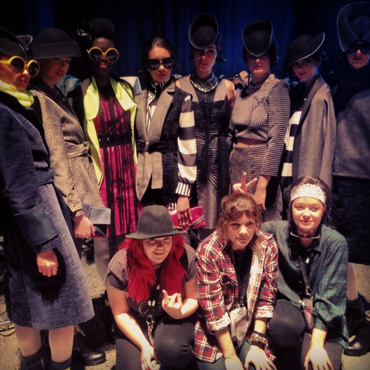Dmonic Intent crew with our models at NZFW 2013  #fashion #style #fashionweek #models #style