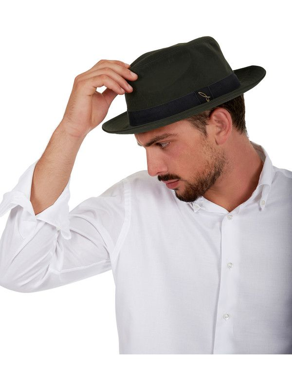 Green fedora hat unisex Doria 1905