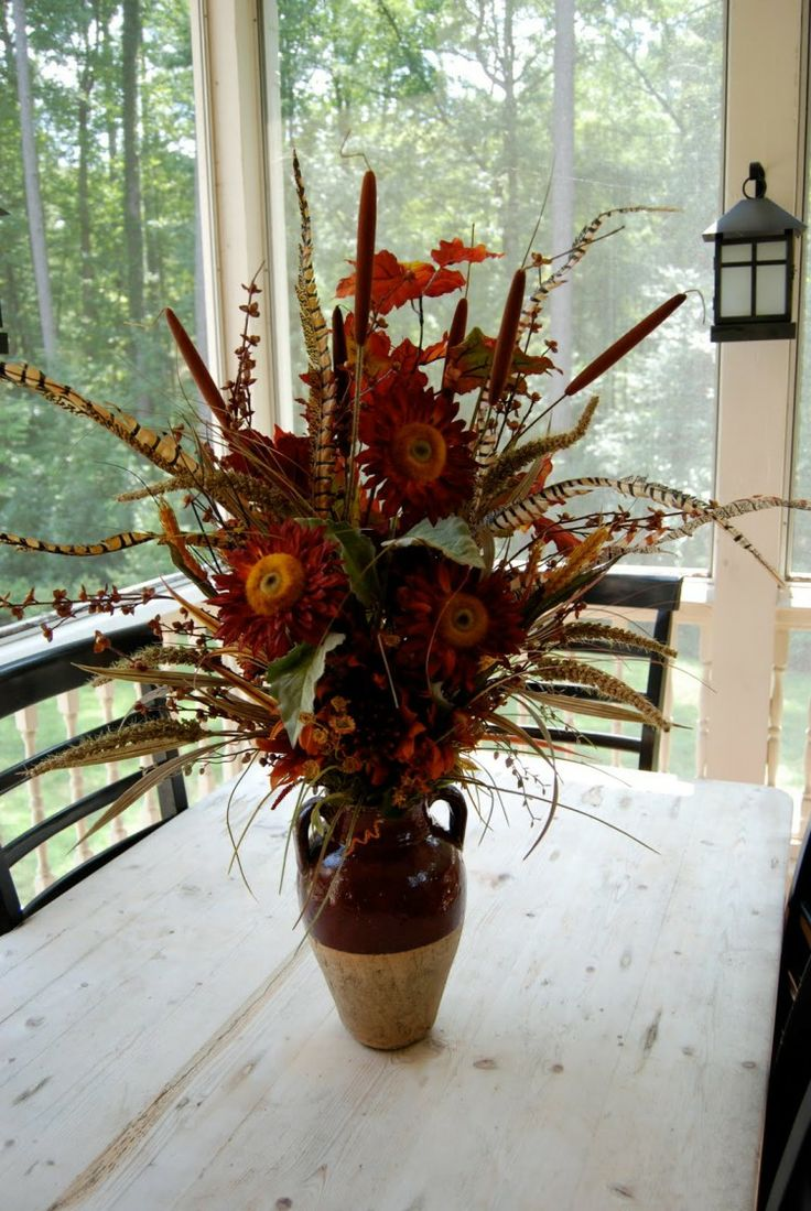 18 excellent silk flower arrangements for dining room for Dining room flower arrangements