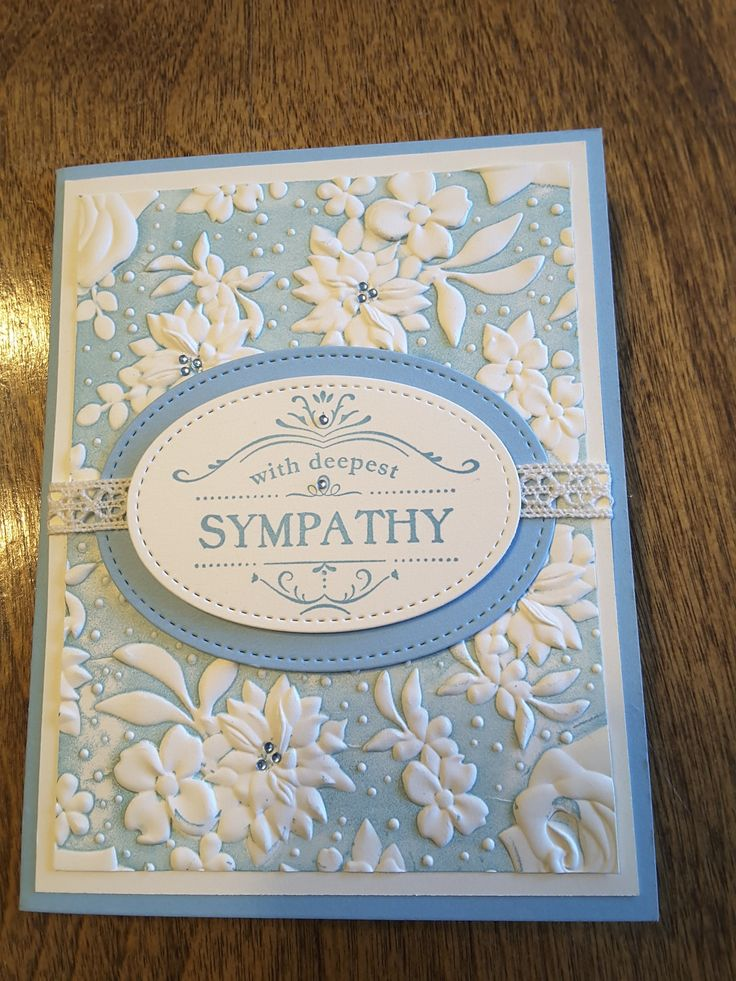 Lovely sympathy card by colette macquarrie posted 43019