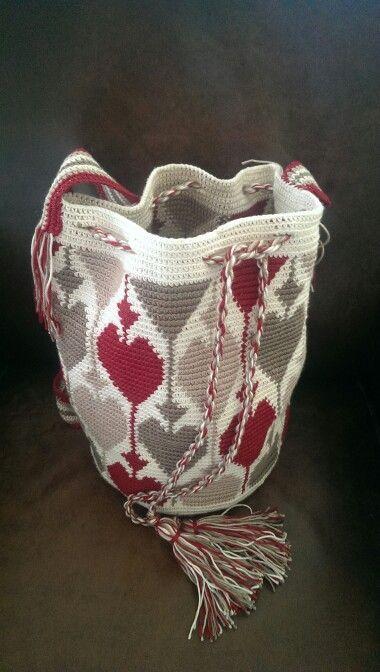DIY Exemple de réalisation du patron coeur. (Mochila style bag. Only inspiration)