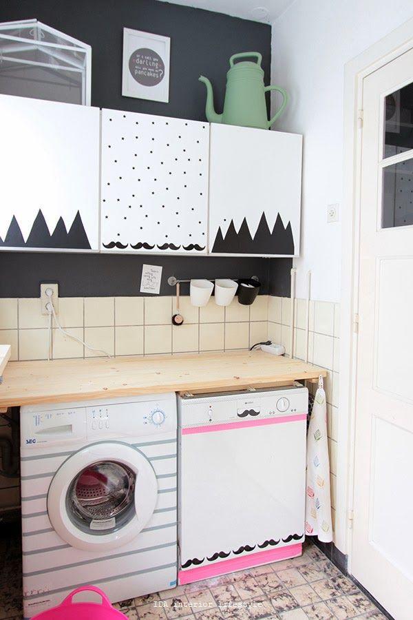 Las 25 mejores ideas sobre papel adhesivo para muebles en for Muebles para lavanderia de casa
