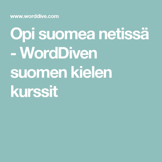 Suomen Kielen Kurssit