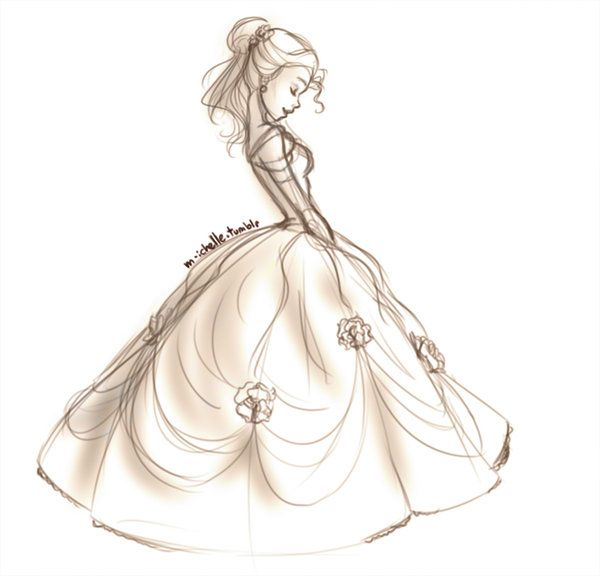 Belle. I wish I could sketch like this.  BatB Sketch 01 by mihzu.deviantart.com on @deviantART