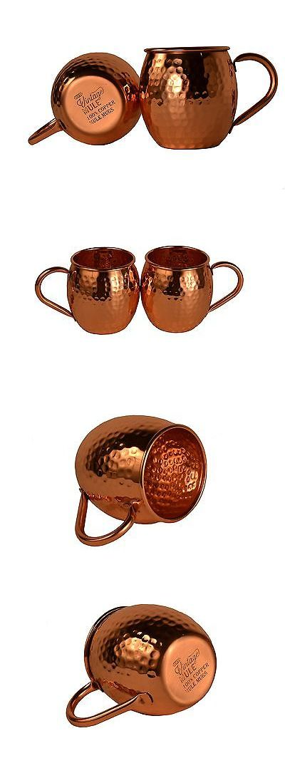 Mugs 20695: The Vintage Mule Solid Copper Moscow Mule Mug - Set Of 2 | Perfect For... No Tax -> BUY IT NOW ONLY: $38.44 on eBay!