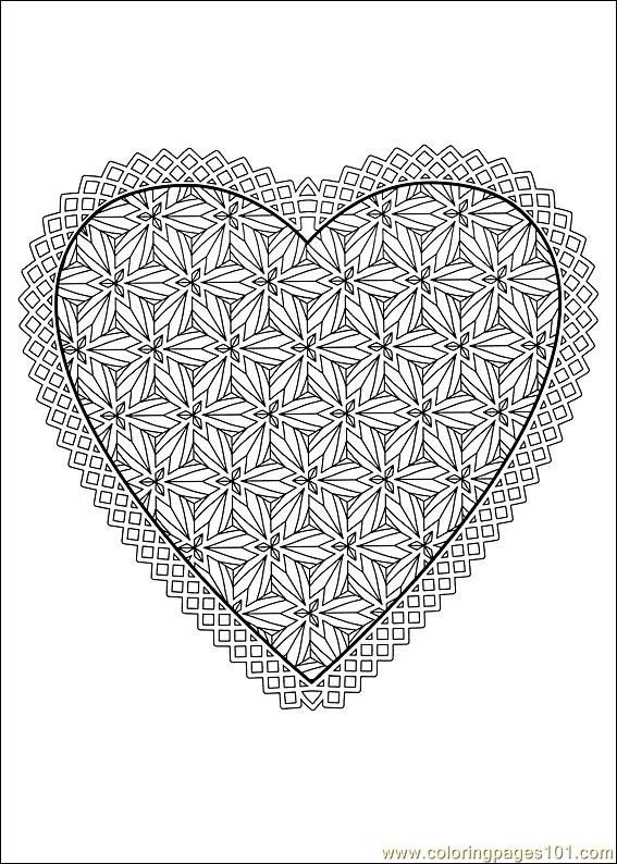Valentine Day Coloring Pages