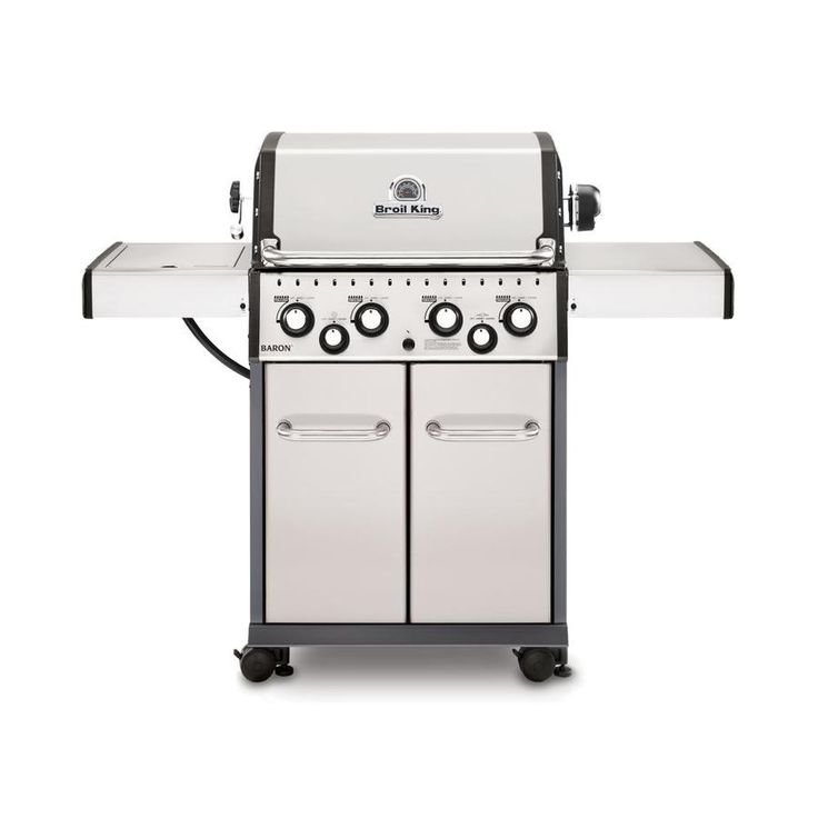 Broil king baron s490 stainless steel 4 liquid propane gas