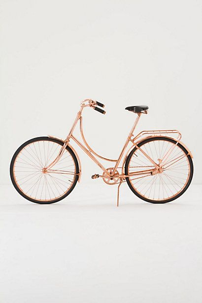 Copper Bicycle | The Fifth Watches // Minimal meets classic design: www.thefifthwatches.com