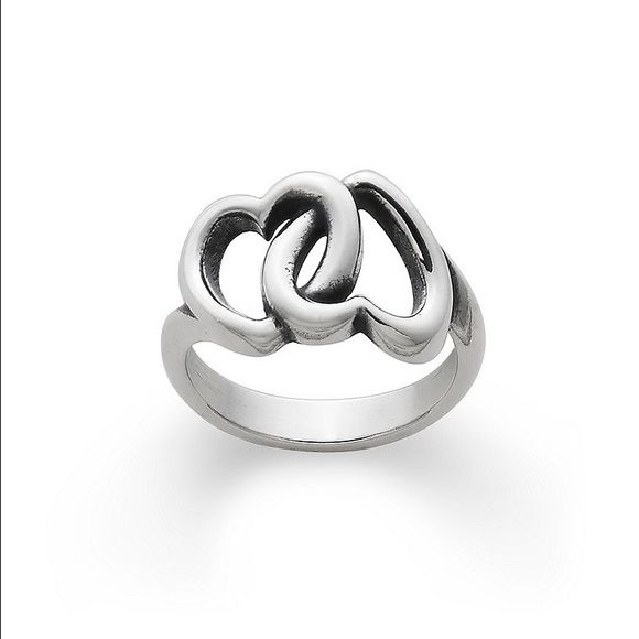 James Avery size 7 linked hearts ring James Avery ring! Worn multiple times, but still gorgeous! James Avery Jewelry Rings