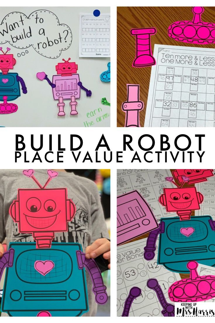 Place Value Robot Activity Place Values Place Value Activities
