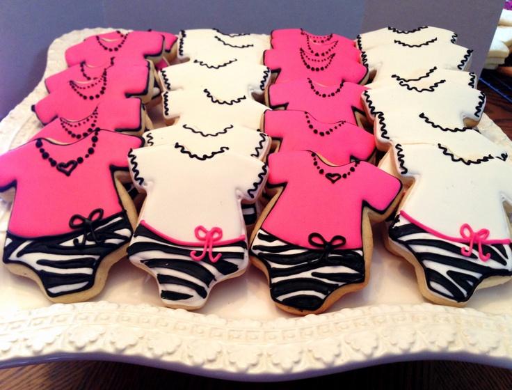 Zebra & Pink Baby Shower Cookies