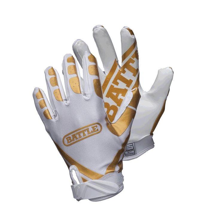 Battle ultrastick receiver gloves goldwhite large free