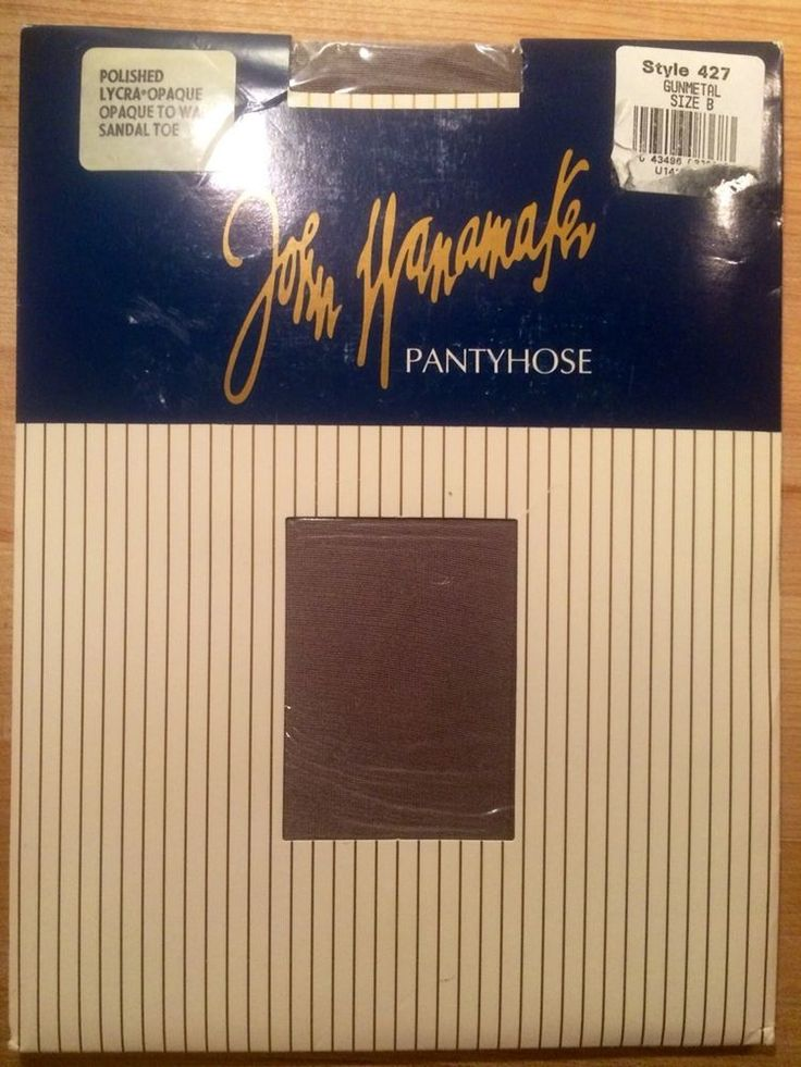 Vintage John Wanamaker Gunmetal Grey Size B Pantyhose Stockings NOS New Opaque #JohnWanamaker #Pantyhose