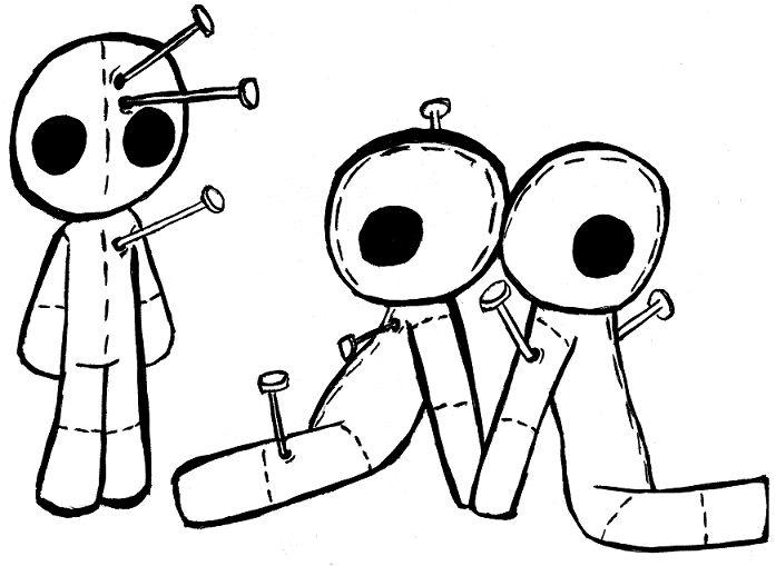 Voodoo Drawing DollsDark SideColoring PagesSimple DesignsSugar SkullsRandom