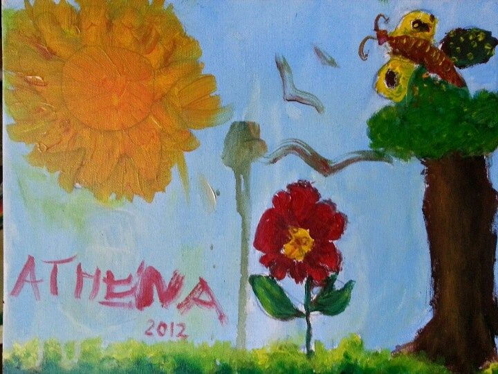 A sunny day - oil painted by athena