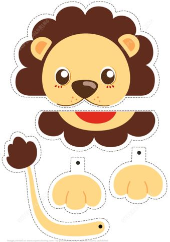 Lion Simple Paper Craft from Paper models category. Hundreds of free printable papercraft templates of origami, cut out paper dolls, stickers, collages, notes, handmade gift boxes with do-it-yourself instructions.