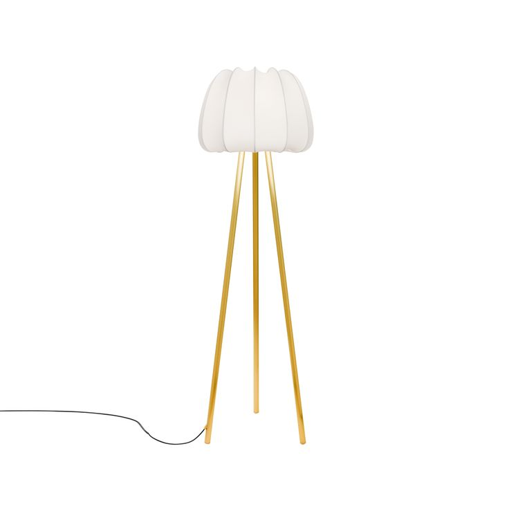 Soft Mini golvlampa - Soft Mini golvlampa - vit/mässing, led