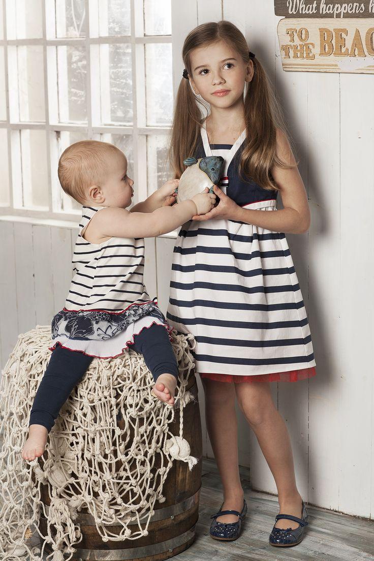 Платья из морской коллекции для больших и мальних модниц!
