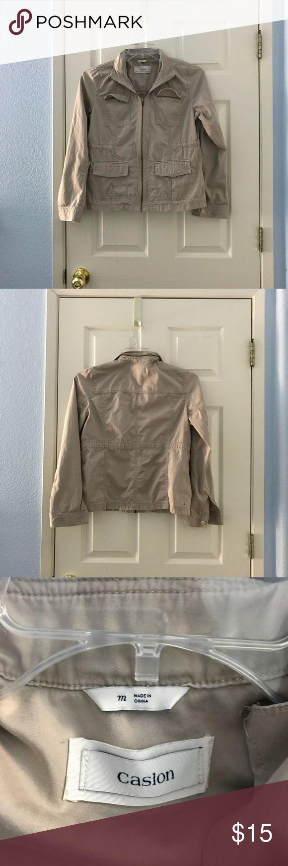 Women's Clothing Denim zip up jacket. Caslon Jackets & Coats Jean Jackets