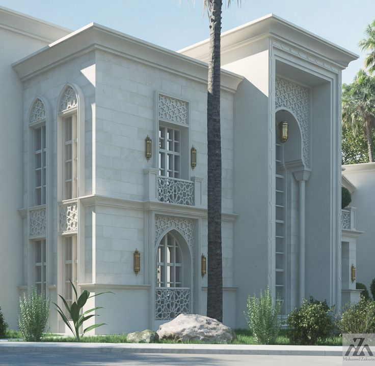 Elevation Mediterranean Architecture Style House Plans: Arabic Villa On Behance