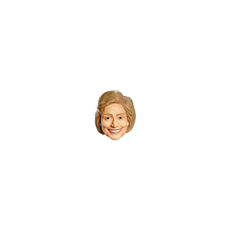 Hillary Clinton Deluxe Mask, Adult Unisex, Multi-Colored
