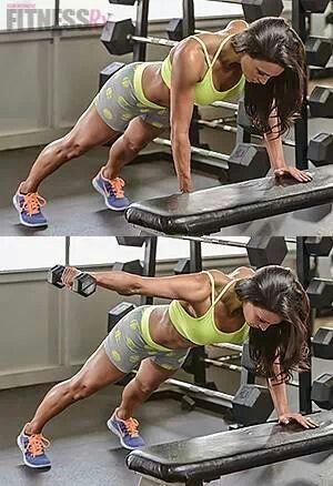 Plank-rear lat