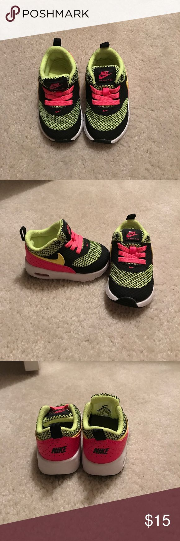 Baby Nike Tennis Shoes Colorful Nike baby shoes. Excellent condition. Nike Shoes Baby & Walker