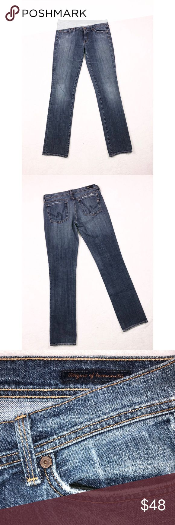 🔥SALE🔥 CITIZENS OF HUMANITY JEANS •Citizens of Humanity Straight Leg Low Waist Stretch Jeans• Size 30• Citizens Of Humanity Jeans Straight Leg