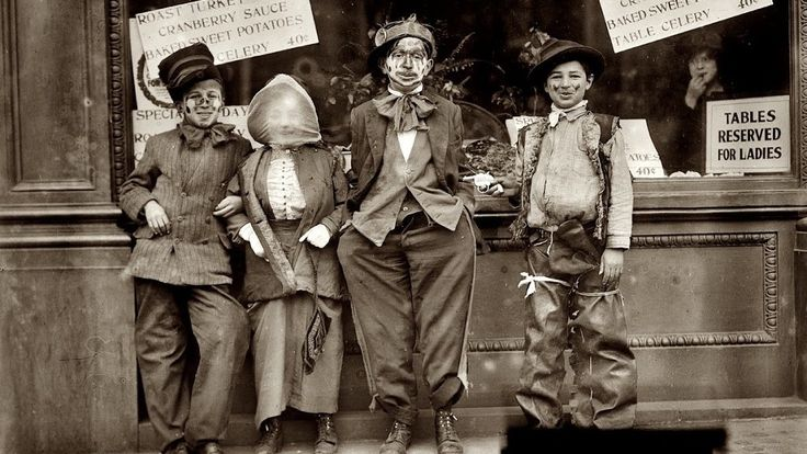 Happy Thanksgiving Masking: The pleasures of mischief, featureless masks and cross-dressing children! - The Bowery Boys: New York City History