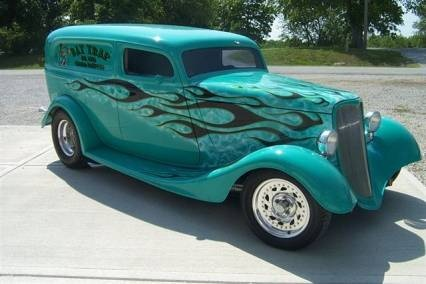 1933 Ford Sedan Delivery - I would love to pick up the girls from school in this!! Love the color.