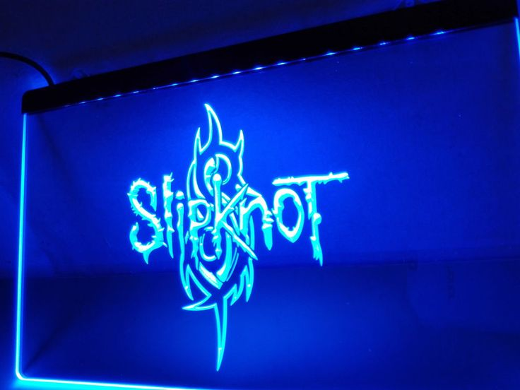 Led Sign Home Decor Entrancing Slipknot Band Logo Rock N Roll Led Neon Light Sign Home Decor Inspiration