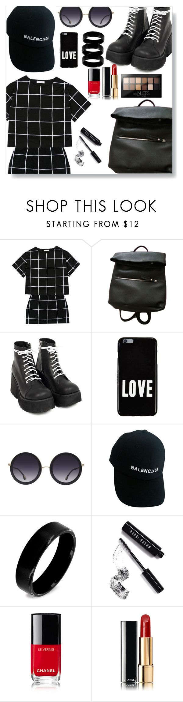 """""""Summer Day :) #4"""" by babeq ❤ liked on Polyvore featuring Givenchy, Alice + Olivia, Balenciaga, West Coast Jewelry, Bobbi Brown Cosmetics, Chanel and Maybelline"""