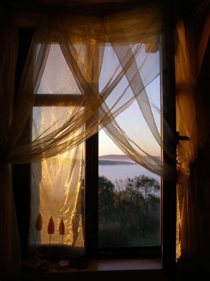 узнать, картинки красивые окна с занавесками красной