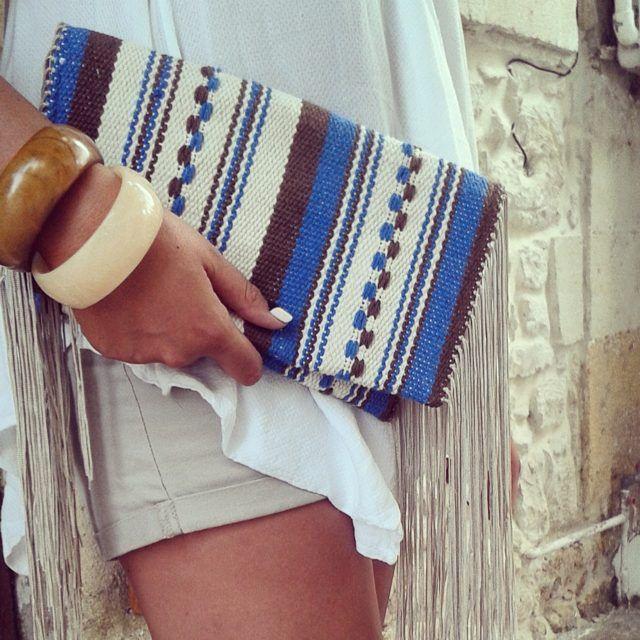 #unique #LOOM #handmade #woven #clutchbag