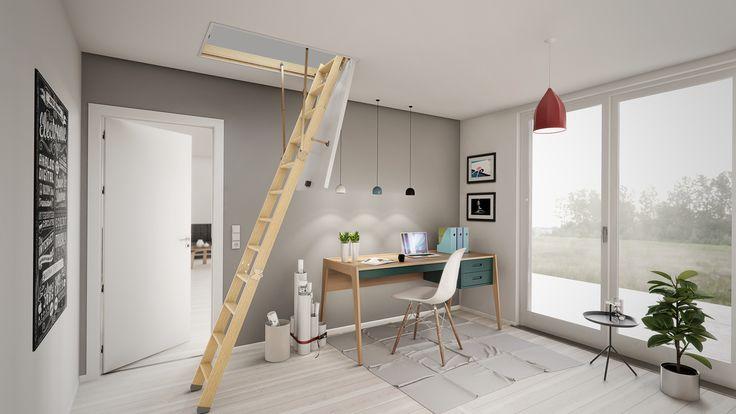 Dolle lofttrappe - høj isoleringsværdi