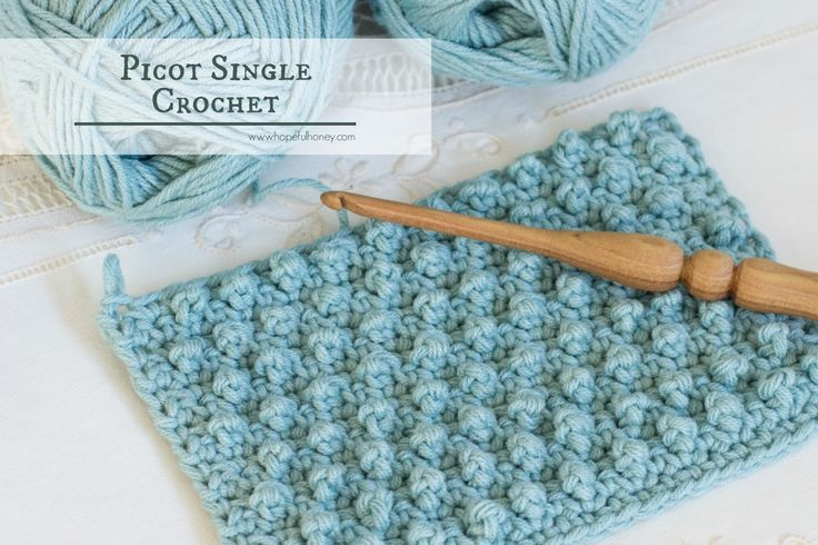How To: Crochet The Picot Single Crochet - Easy Tutorial