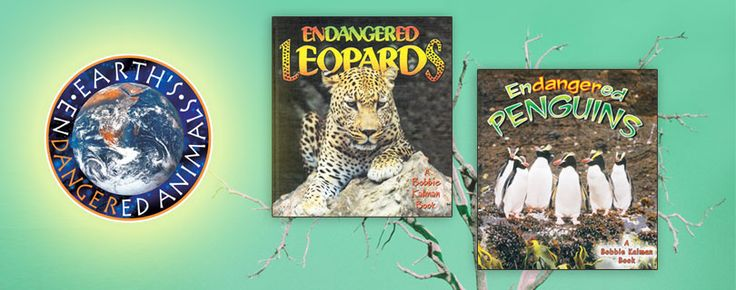 Earth's Endangered Animals series (Crabtree Publishing)_ students will learn about which animals are endangered, why they are endangered, and what people are doing to help them. The focus of the series is to help children gain an appreciation of each animal's important role on Earth. Grades 3-6