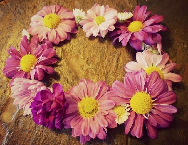 DIY Floral Crown, Real Flowers