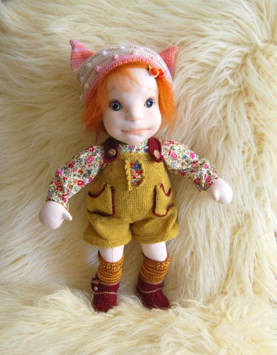 Waldorf inspired doll Cloth dollSoft sculpture doll Handmade