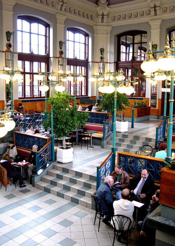 "traveltheearth: "" McDonald's Nyugati Train Station, Budapest Hungary   [via] """