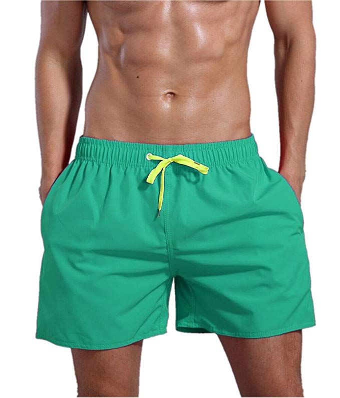 65987b2b08 Buy Men's Quick Dry Swim Trunks Bathing Suit Beach Shorts - Green - Shop  the latest collection of Men's Swimwear from the most popular stores.