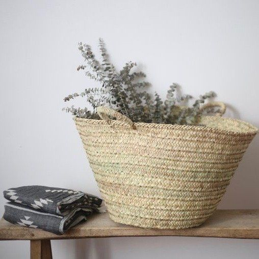 storage basket - Linen and milk