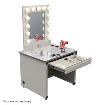 Broadway Lighted Vanity Mirror Desk : Need this! Broadway Lighted Vanity Makeup Desk - by Vanity Girl Hollywood Dream bedroom ...