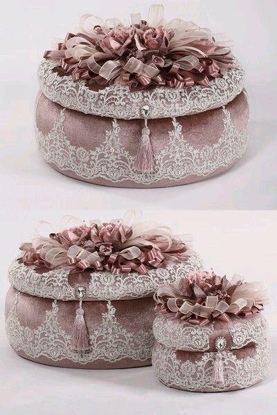 كيفية عمل صندوق مجوهرات موديل تركي   اعمال فنية و اشغال يدوية handmade décoration broderie